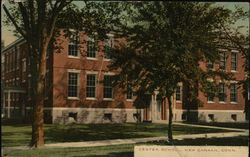 Center School Postcard