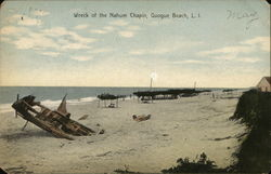 Wreck of the Nahum Chapin on Long Island