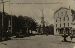 Soldier's Monument and Congregational Church
