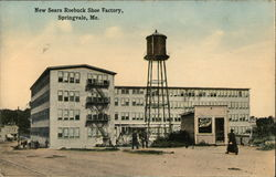 New Sears Roebuck Shoe Factory Postcard