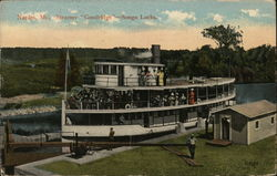Steamer Goodridge, Songo Locks Postcard