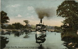 Steamer Louise in Songo Lock