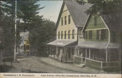 Lake Avenue, Alton Bay Campground Postcard