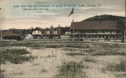 Lake Side Inn and Cottages on Shore of Averil Lake
