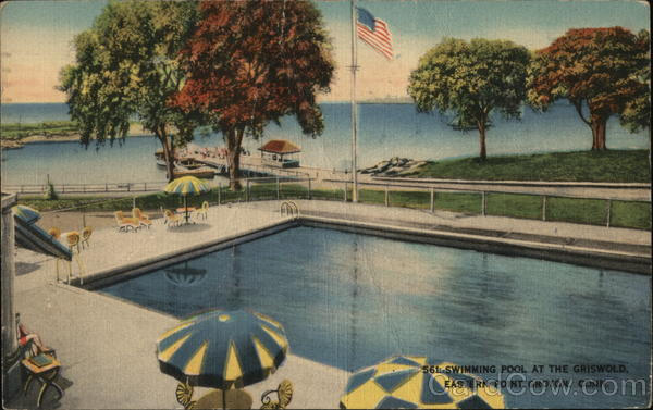 Swimming Pool at the Griswold, Eastern Point Groton Connecticut