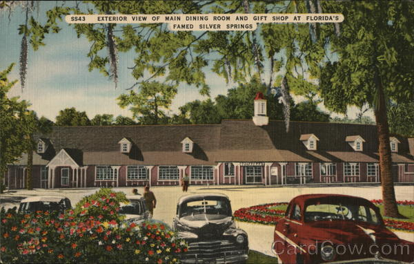 Exterior View of Main Dining Rom and Gift Shop at Florida's Famed Silver Spring Silver Springs