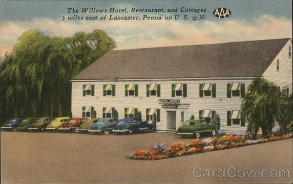 The Willows Hotel, Restaurant and Cottages Lancaster Pennsylvania