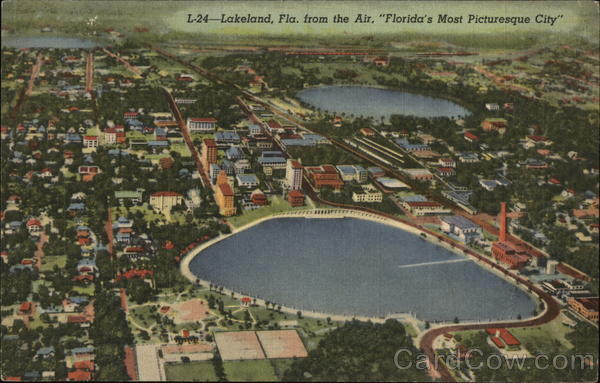 Air View of Florida's Most Picturesque City Lakeland