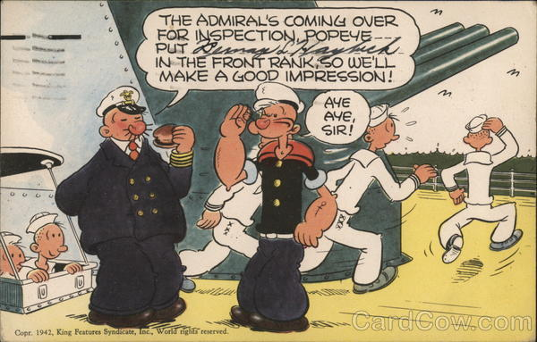 Popeye Postcard Comic
