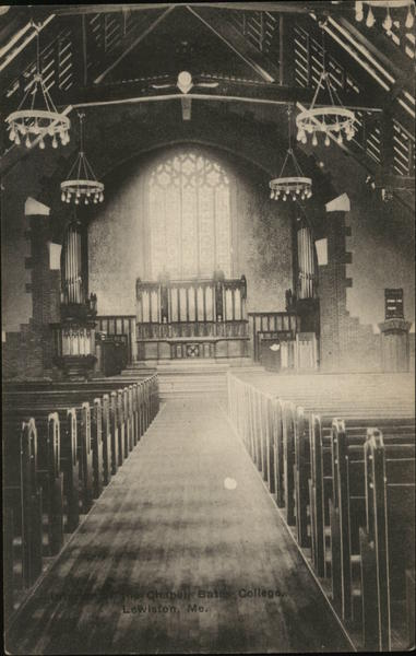 Interior of Chapel, Bates College Lewiston Maine