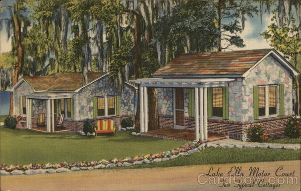 Typical Cottages at Lake Ella Motor Court Tallahassee Florida