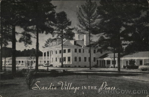 Scandia Village in the Pines Motor Court and Restaurant Raleigh North Carolina