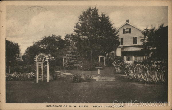 Residence of G.W. Allen Stony Creek Connecticut