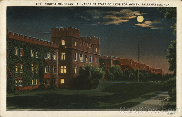 Night-Time, Bryan Hall, Florida State College for Women Tallahassee