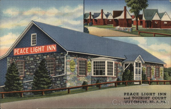 Peace Light Inn and Court Gettysburg Pennsylvania
