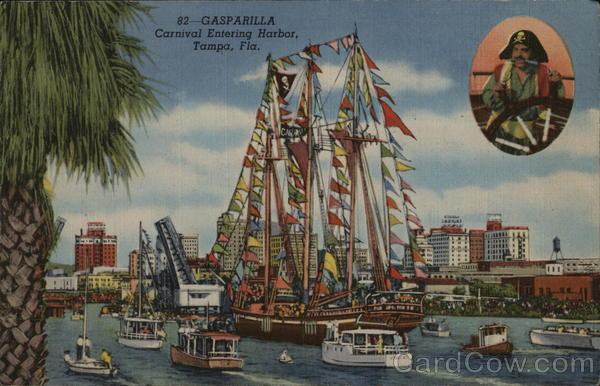 Gasparilla, Carnival Entering Harbor Tampa Florida