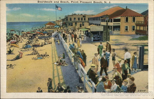 Boardwalk and Beach Point Pleasant Beach New Jersey