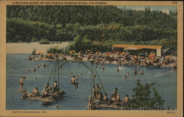 A Bathing Scene on the Famous Russian River California