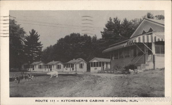 Route 111 - Kitchener's Cabins Hudson New Hampshire