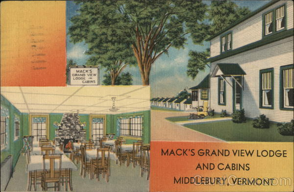 Mack's Grand View Lodge and Cabins Middlebury Vermont