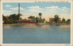 Water Works and Filtration Plant Postcard