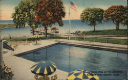 Swimming Pool at the Griswold, Eastern Point Postcard