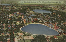 Air View of Florida's Most Picturesque City Postcard