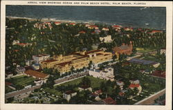 Aerial View Showing Ocean and Palm Beach Hotel