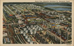 Aerial View, Magnolia Petroleum Co. Postcard
