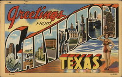 Greetings from Galveston, Texas Postcard