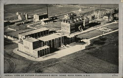 Aerial View of Father Flanagan's Boys Home Postcard