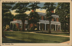 The Black House, Built in 1802, Woodlawn Postcard