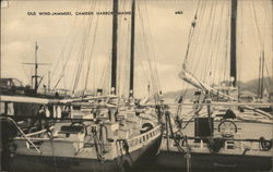 Old Wind-Jammers in Camden Harbor Postcard