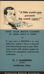 H.J. Gammons, Bulova Watches