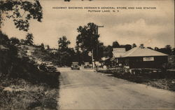 Highway Showing Herman's General Store and Gas Station