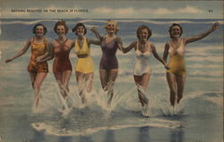Bathing Beauties on the Beach in Florida