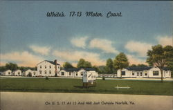 White's 17-13 Motor Court Postcard