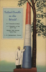Tallest Candle in the World, J. A. Beauparlant, Owner Postcard