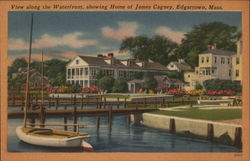 View Along the Waterfront, Showing Home of James Cagney