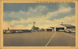 The Hyannis Airport on Cape Cod Postcard