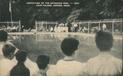 Dedication of the Swimming Pool - 1957, Camp Palmer
