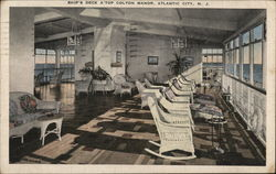 Ship's deck atop Colton Manor