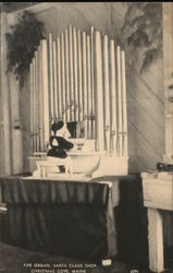 Pipe Organ, Santa Claus Shop Postcard