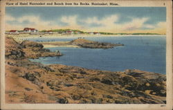 View of Hotel Nantasket and Beach From the Rocks