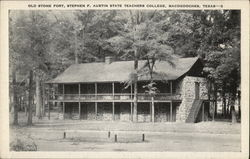 Old Stone Fort, Stephen F. Austin State Teachers College Postcard