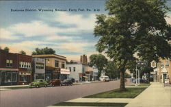 Business District, Wyoming Avenue, Forty Fort, Pa. K-10