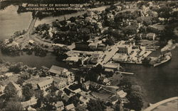 Aerial View of Business Section of Wolfeboro