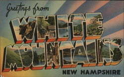 Greetings from White Mountains, New Hampshire Postcard
