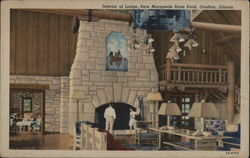 Interior of Lodge, Pere Marquette State Park