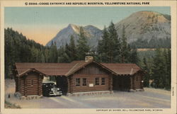 Cooke Entrance and Republic Mountain, Yellowstone National Park
